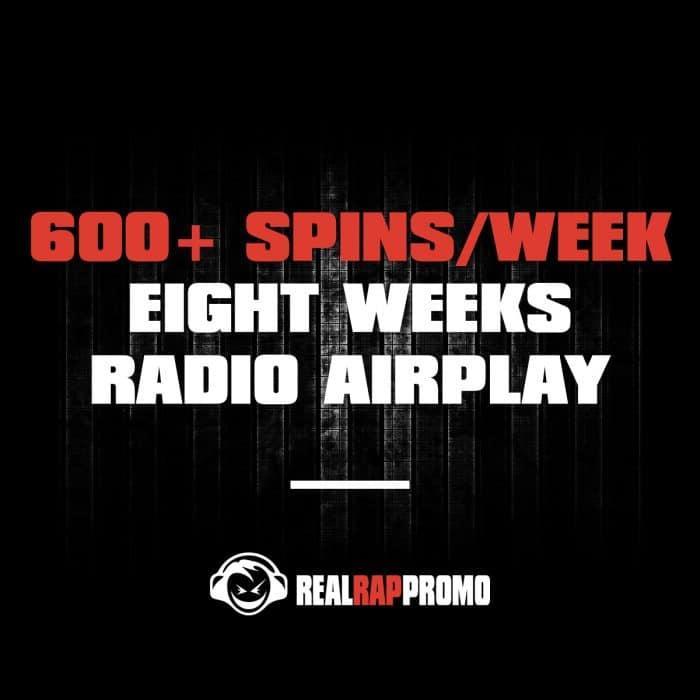 600 Spins Per Week Radio Airplay