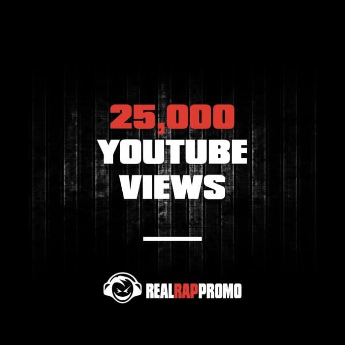 25000 YouTube Views